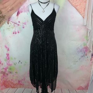 Stenay Black Beaded Silk Cocktail Dress - Size 10